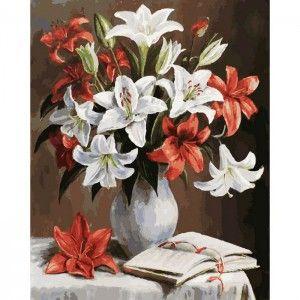 Лилии Раскраска ( картина ) по номерам акриловыми красками ...