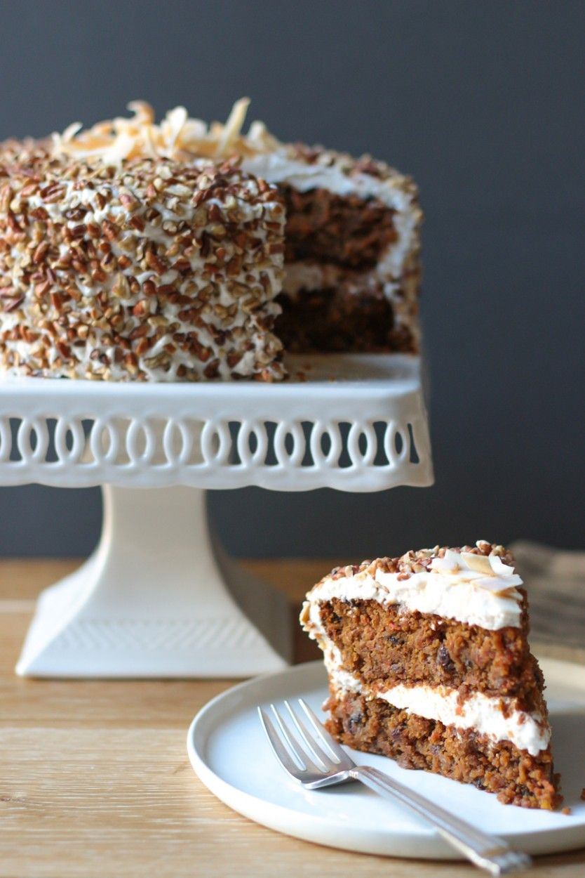 Carrot cake with cream cheese frosting gluten free grain