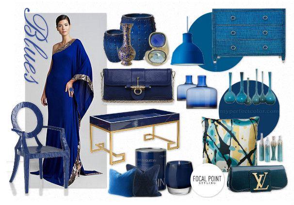 ON TREND BLUES by nyclq | Olioboard #Blue #Mooodboard Lynda Quintero-Davids #FocalPointStyling