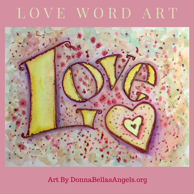 loveword #inspirationalart #painting was created in #watercolor ...