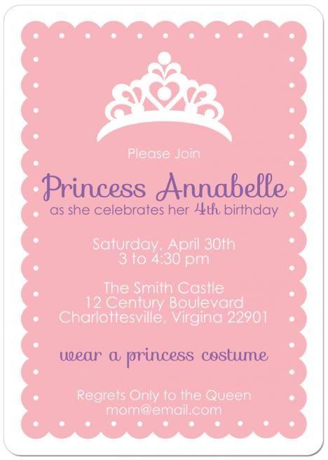 Princess dress up party birthday invitation princess birthday princess dress up party birthday invitation stopboris Choice Image