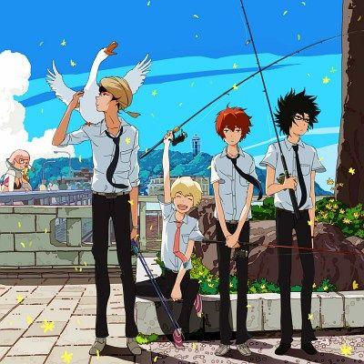 Tsuritama, the newest work from director Kenji Nakamura (C - Control, Mononoke, Kuchu Buranko).  One of my most anticipated anime of the Spring. ^^b