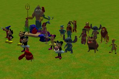 Custom Scenery Depot - Theme Park Games - Disney Figures