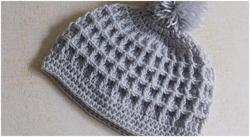 Crochet Beautiful Beanie Hat Waffle Stitch | Crochet & knit by Inci ...