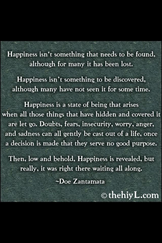 happiness ;)