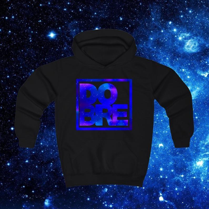 DOBRE TWINS Inspired Merch 3-12 Yrs Dobre Blue Galaxy Logo Kids Hoodie