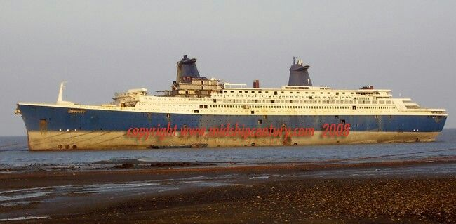 This Is A Famous Ship Named Ss Norway Was At The Beach And Started To Scrapped | Dismantled ...