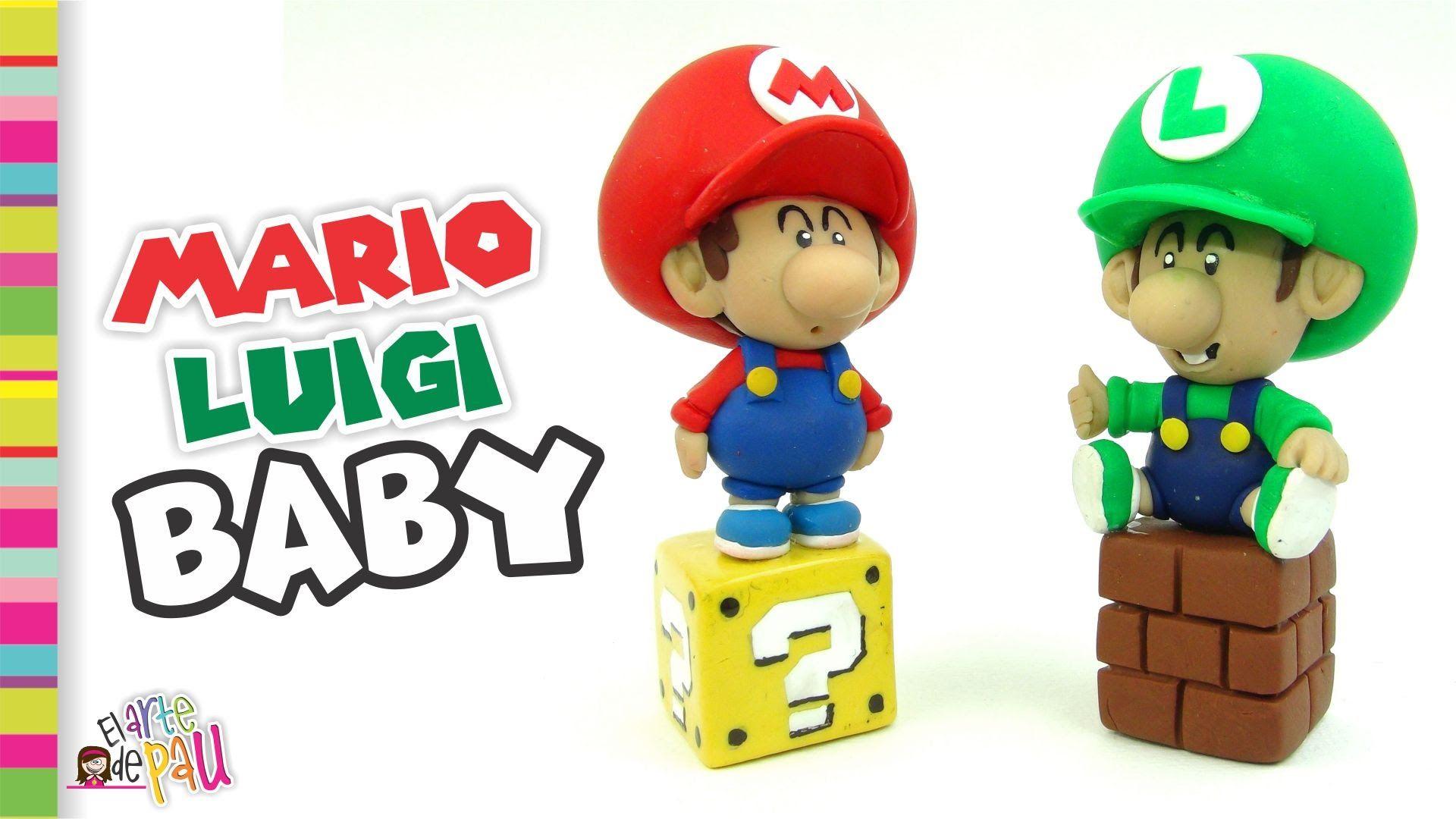 BABY Mario & Luigi Bros Polymer clay / Arcilla polimérica