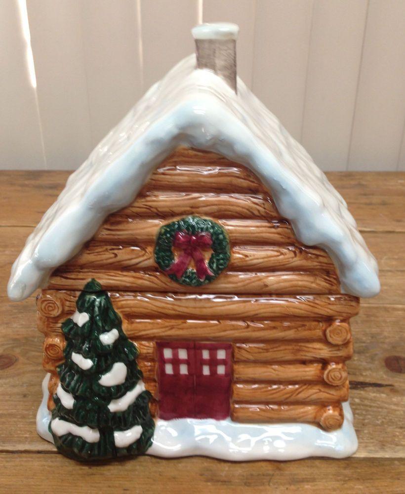 Mccoys Christmas Trees: Northwoods Lodge Cookie Jar By Target
