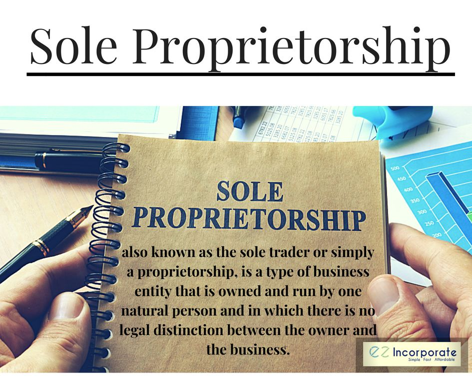 A sole proprietorship is the simplest and least expensive