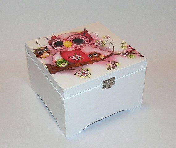 Owl Jewelry Box With Lock, Jewel Box, Vintage Jewelry Box, Tea Box, Box For Tea, Womens Gift Box, Keepsakes Box, Girls Jewelry Boxes