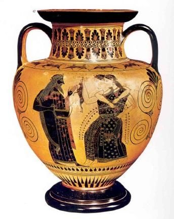 Attic Black Figure Amphora Exekias Ajax Achilles Body Athenian