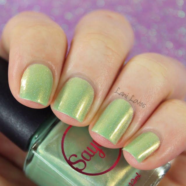 Sayuri Nail Lacquer - Minty Morsels nail polish swatches & review