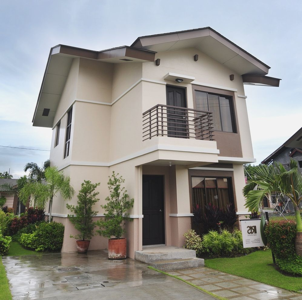 This Image Is About Exterior Paint Colors With Brown Roof Ideas And Titled Exterio Contemporary House Exterior House Exterior Small House Design Philippines