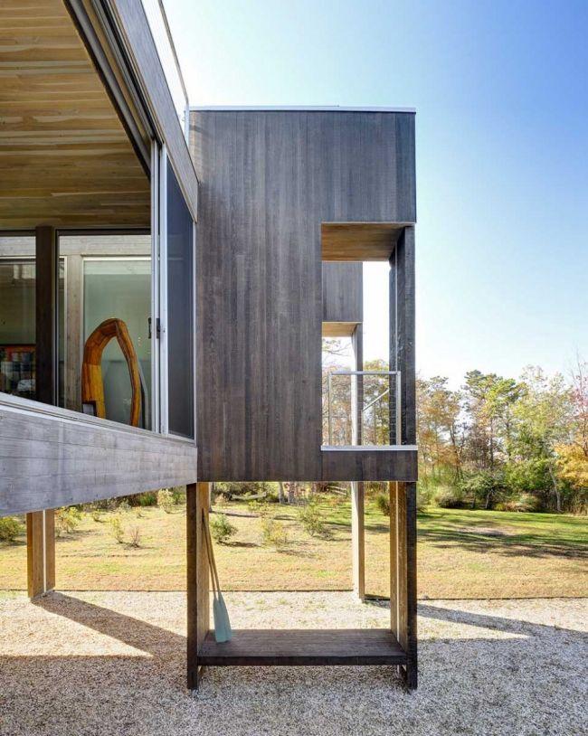 Maison contemporaine en bois sur pilotis Extension Pinterest