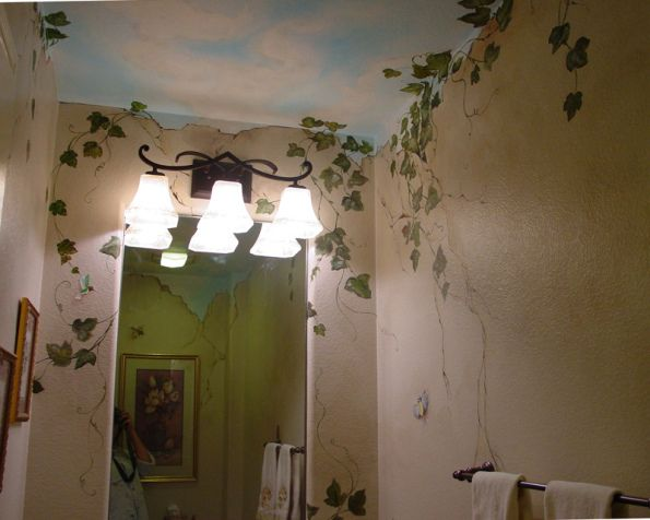 Lovely Painted Vines Ceiling Murals Mural Wall Painting