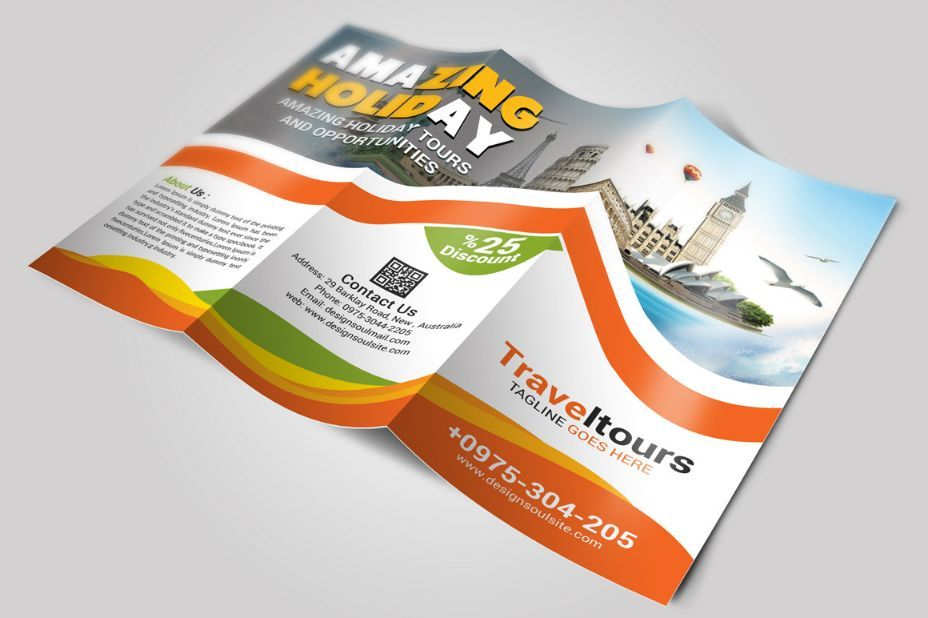 Tourism Brochure Template Word Psd Indesign And Vector Eps