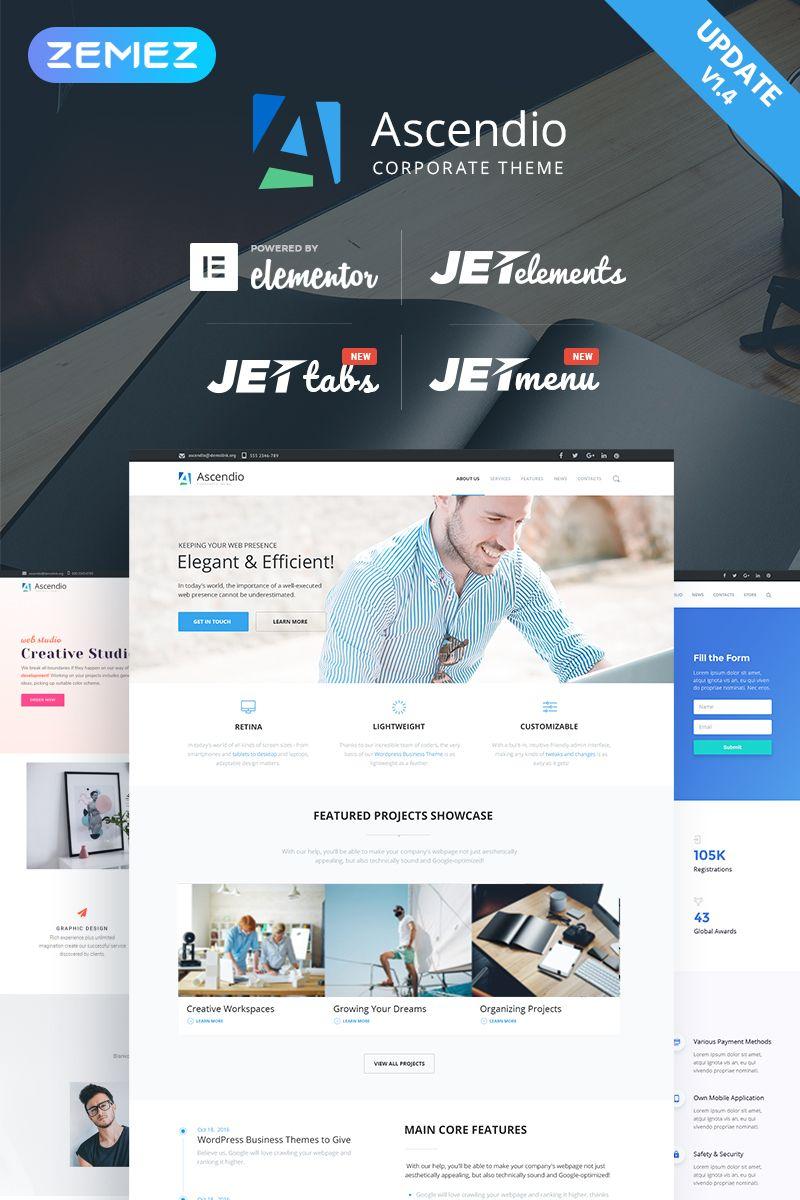 Ascendio corporate business wordpress theme wordpress themes ascendio corporate business wordpress theme friedricerecipe Gallery