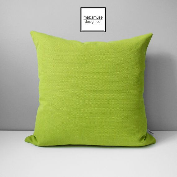 Outdoor Pillow Inserts Acid Green Outdoor Pillow Cover Decorative Pillow Cover Modern