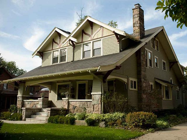 Arts and crafts green craftsman style inspiration for Craftsman style architects