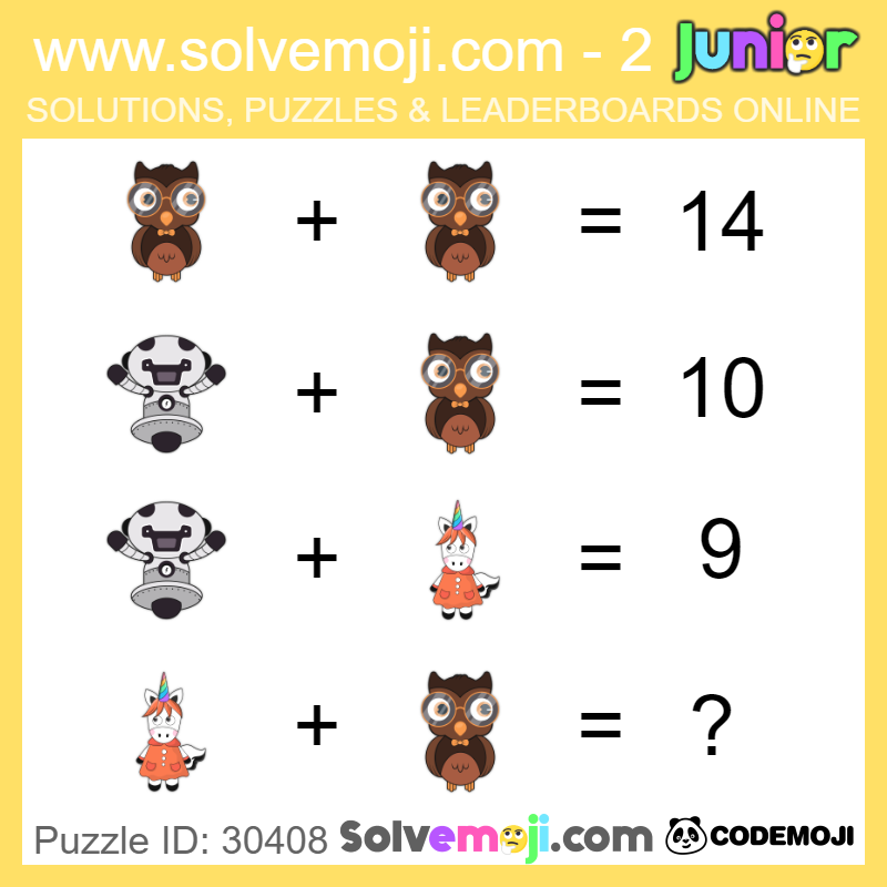 Emoji Math Puzzle ID 30408