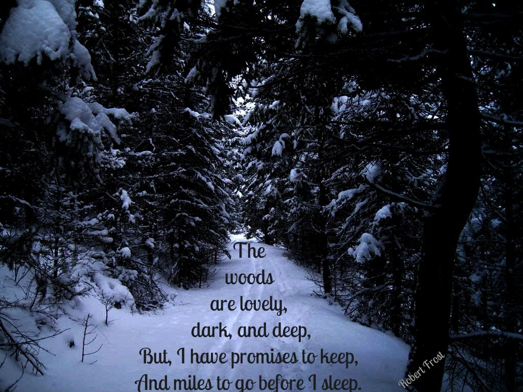 One Of My Favorite Quotes From Robert Frost It S From Stopping By