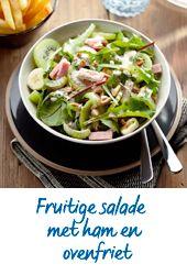 Jan Linders - Fruitige salade met ham, ovenfriet én kiwi!