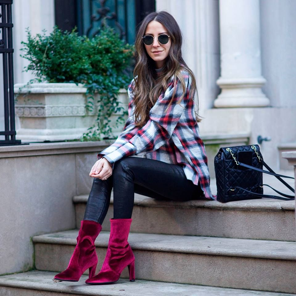 49603295fc60b0 Style blogger Arielle of Something Navy amps up the daytime drama in the  red velvet.  womenstyle  fashion  musthave  blackfriday  cybermonday2018