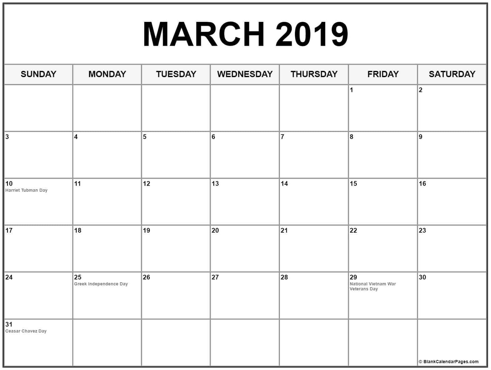 March 2019 Calendar Holidays Usa Calendar June Calendar March