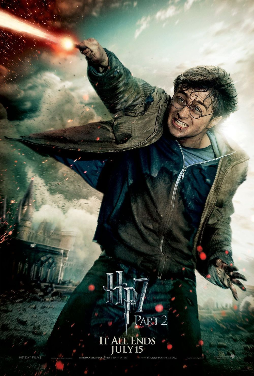 Harry Potter And The Deathly Hallows Part 2 Harry Potter Filme Daniel Radcliffe Harry Potter Personagens Harry Potter