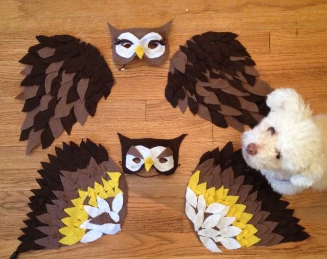 How to make owl wings for costume crafty pinterest owl how to make owl wings for costume solutioingenieria Images