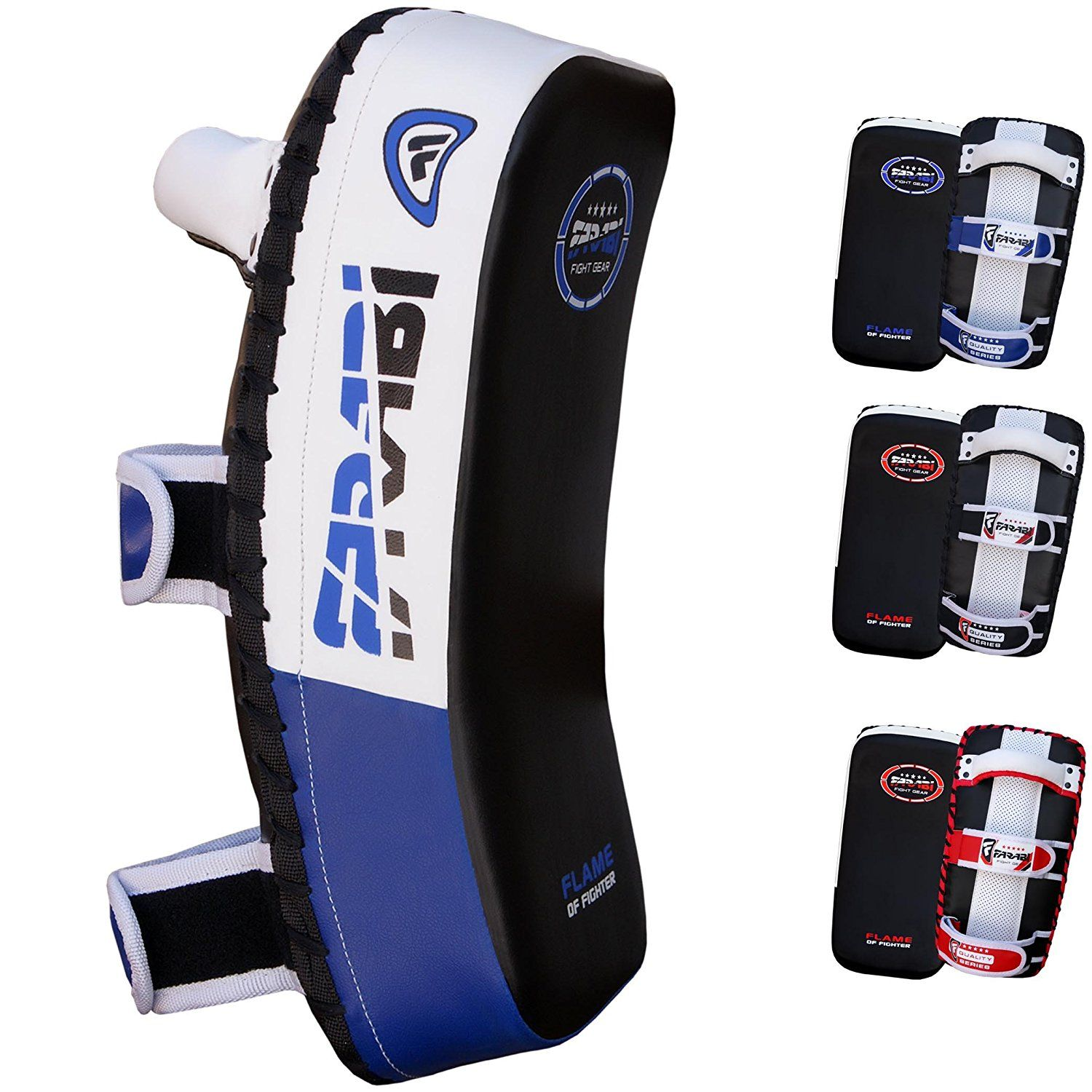 3X Sports Curved Strike Shield Thai Pads KickBoxing Focus Mitts Arm Pad Training