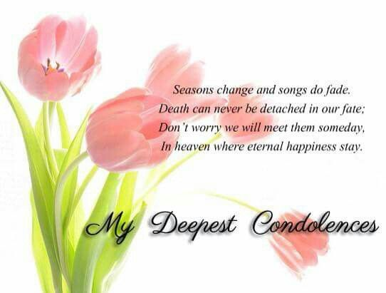 My Deepest Condolences Inspiration Pinterest Condolences and - sympathy message