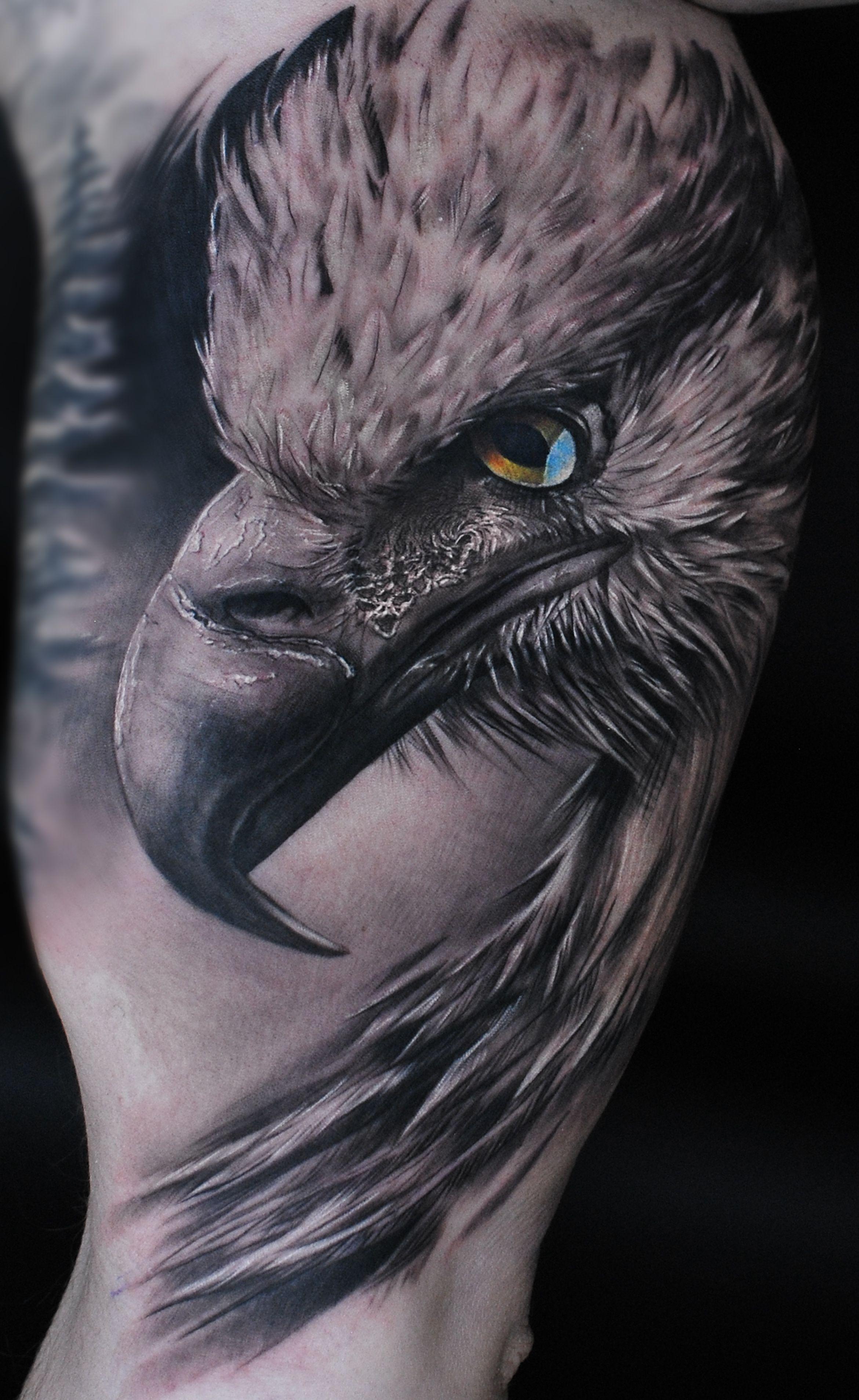 Realistic Eagle On Mans Arm Artist Maris Pavlo Realistic Bird Tattoo Eagle Tattoos Bird Tattoo Men