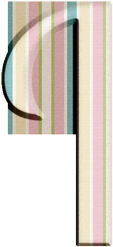 I Alphabet Polka Dots Stripes Lettering