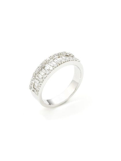 Baguette Pave Diamond Band Ring by Odelia Jewelry Here comes the