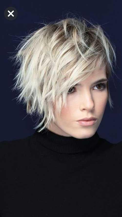 Beste Bilder von geschichteten kurzen Haaren für rundes Gesicht #shortlayeredhairstyles