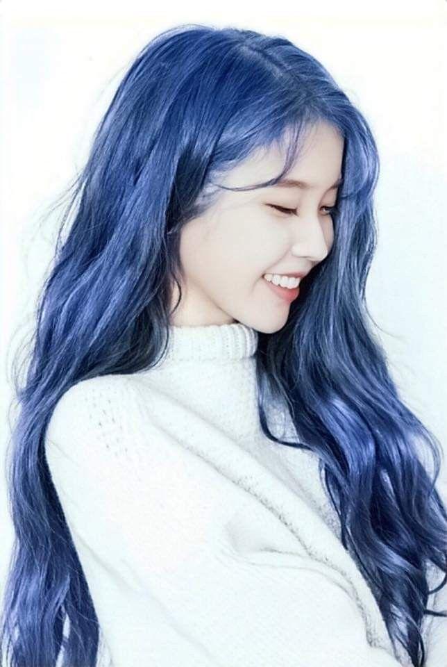 Hair Korean Iu Hair Blue Hair Hair Styles