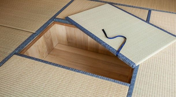 Japanese Tatami Living Corner With Storage Under The