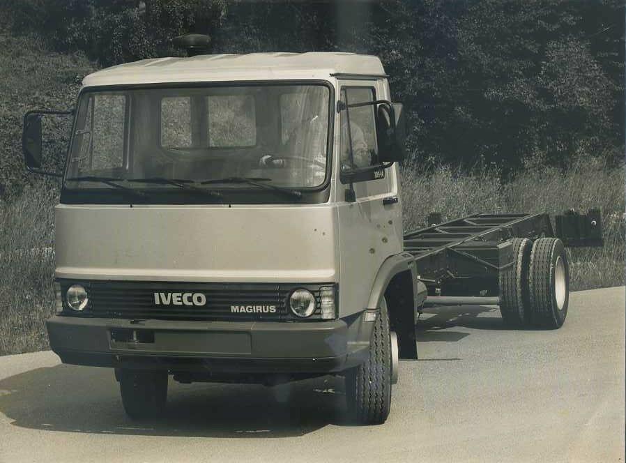 Fotografia Originale D Epoca Autocarro Iveco Gamma Z Mod
