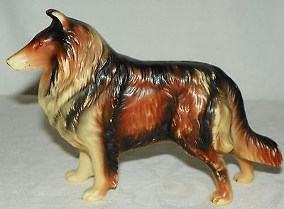Vintage 7.5 Inch Sable Collie Dog Plastic Figurine Toy Made in Hong ...