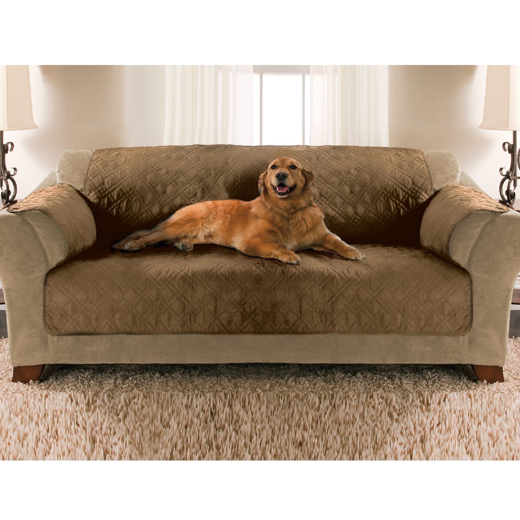 Essential Home Sofa Pet Cover Tan, Beige & Tan