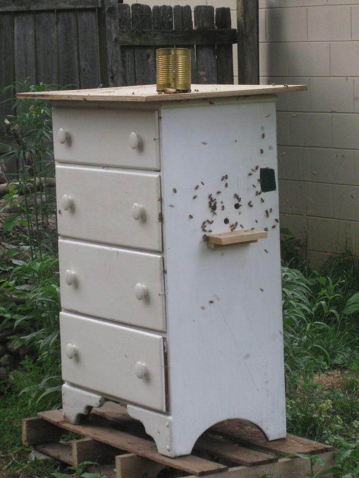 old dresser turned into a new bee hive bienen pinterest bienen imker und honig. Black Bedroom Furniture Sets. Home Design Ideas