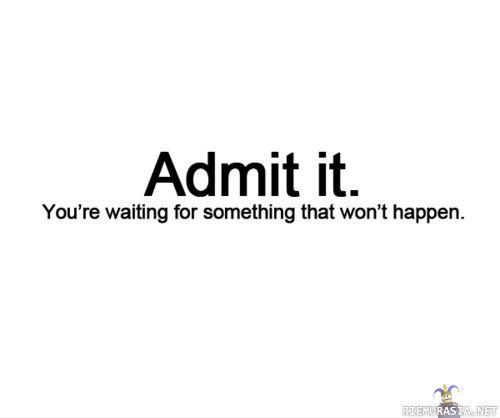 Admittance-I admit it....