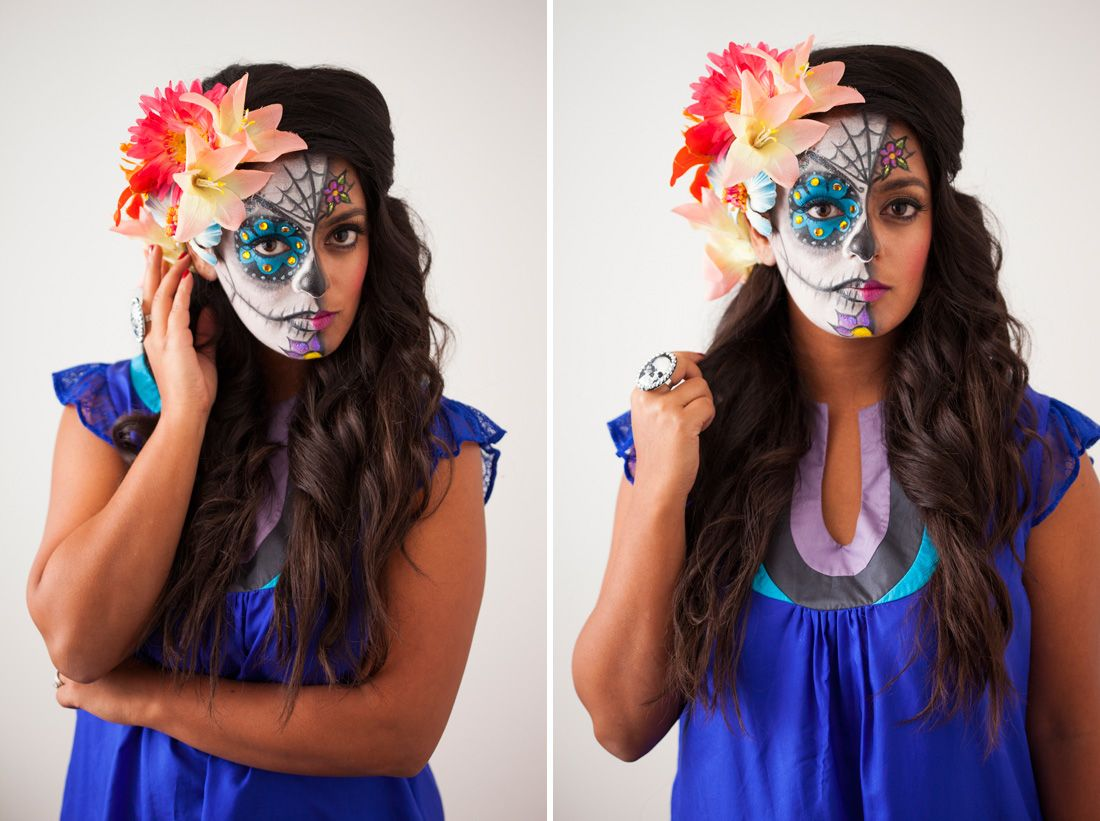 celebrating day of the dead this year or thinking of dressing up as a dia - Halloween Day Of The Dead Face Paint