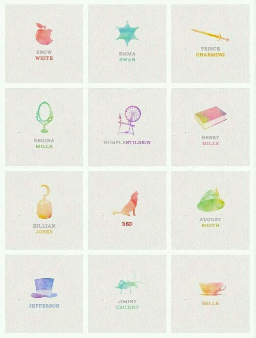 Symbols Of The Characters In Once Upon A Time Once Upon A Time