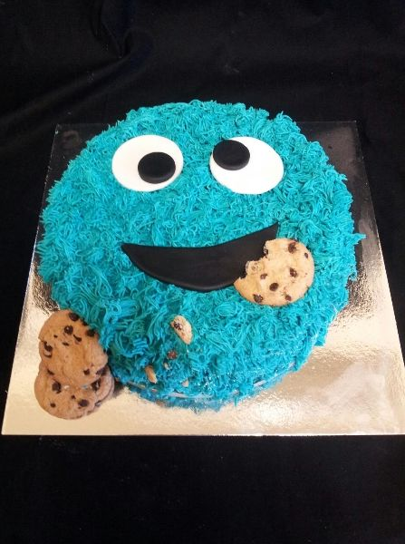 Angel Foods Cookie Monster Cake Boys Birthday Cakes www