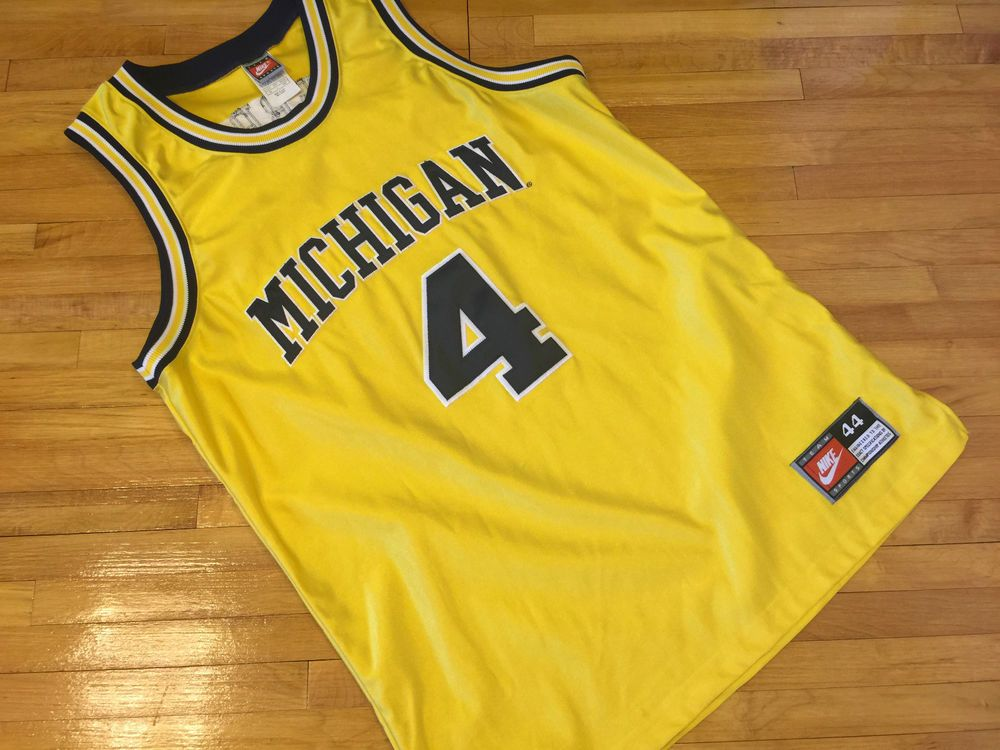 f4e8a163be82 Vtg Chris Webber Michigan Wolverines Nike Authentic Basketball Jersey 44 L  Fab 5  Nike  MichiganWolverines