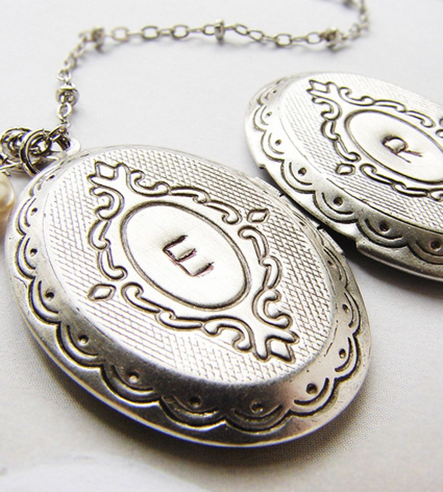 zoom silver il necklace book with listing locket lockets personalized fullxfull initial