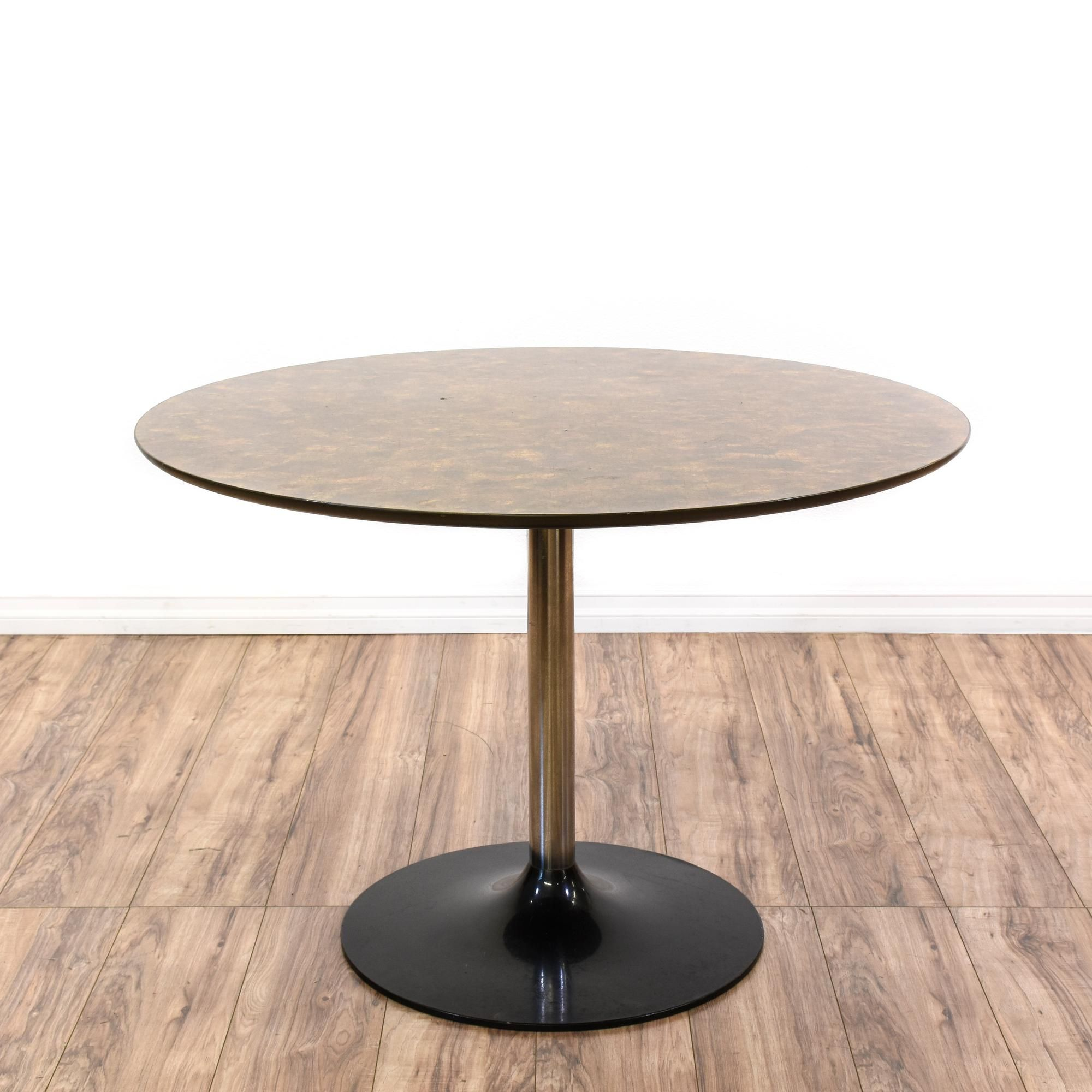 Eero Saarinen Style Black Tulip Base Dining Table